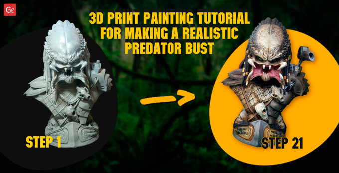 Best 3D Print Painting Tutorial for Making a Life-Like Predator Bust