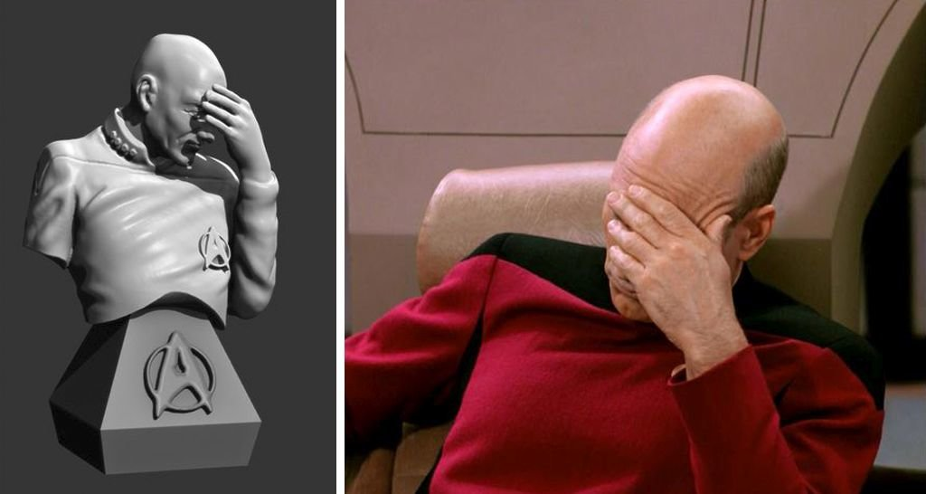 Captain Jean-Luc Picard facepalm STL files