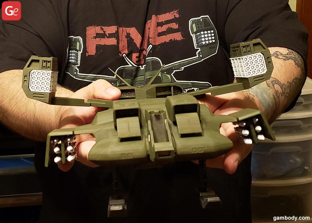 Alien Dropship 3D printed model
