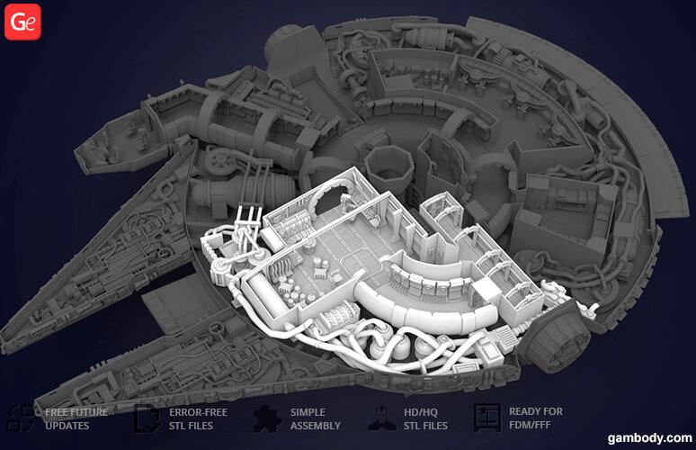 Millennium Falcon 3D print STL