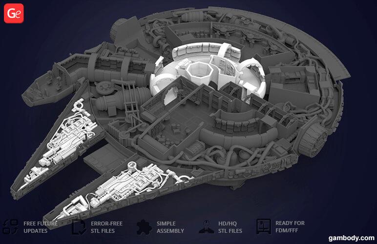 Millennium Falcon quad laser