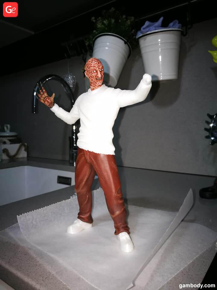 Freddy Krueger 3D print horror movies