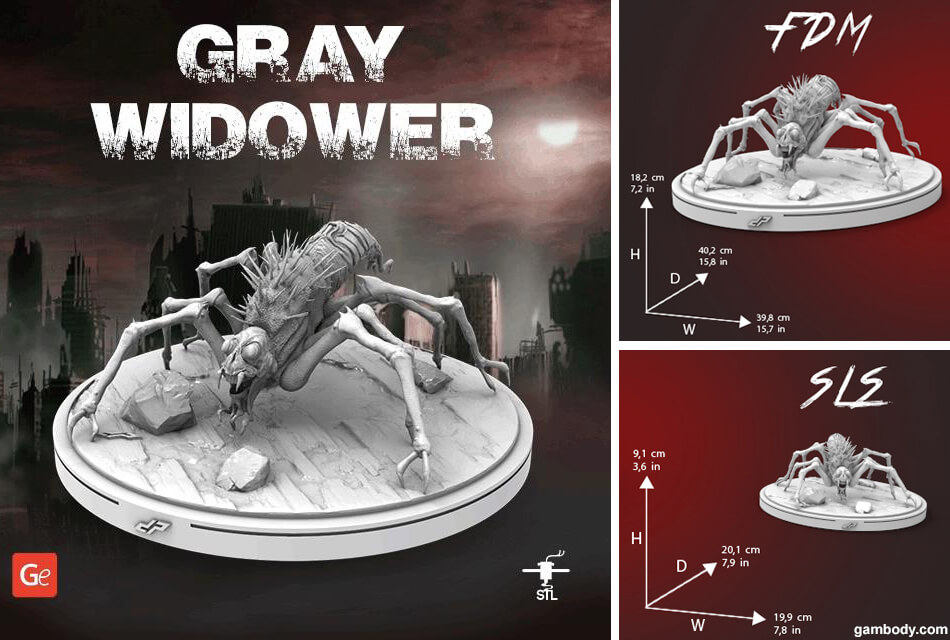 Gray Widower The Mist 3D model to print