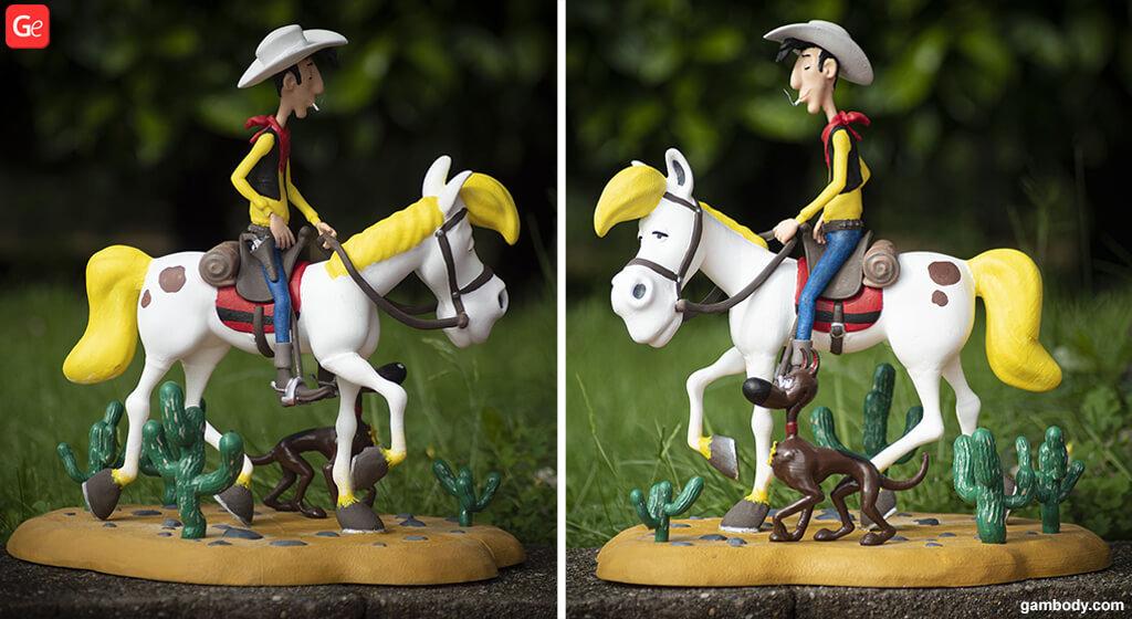 Lucky Luke 3D Model to print for beginners