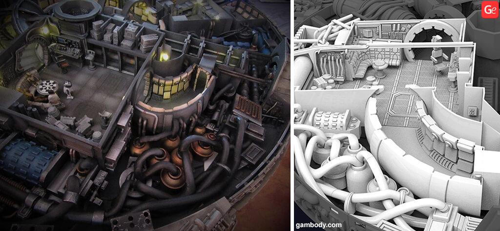 Star Wars ship engine color
