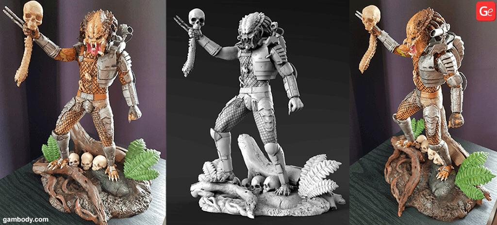 Predator Jungle Hunter figure 3D printing model