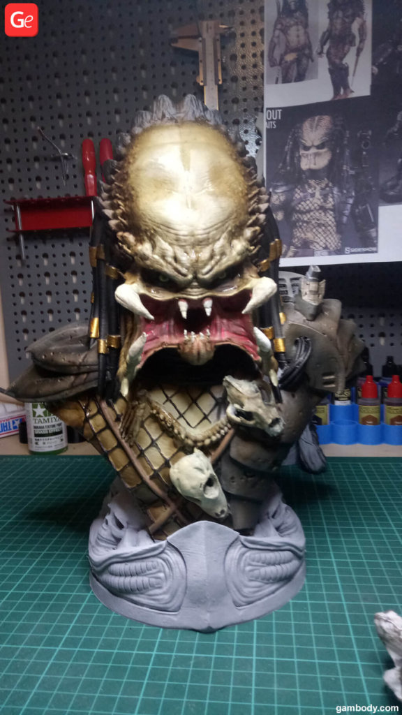 Predator 3D model head