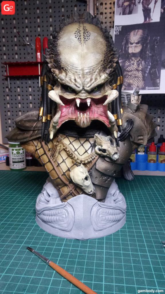Predator 3D bust