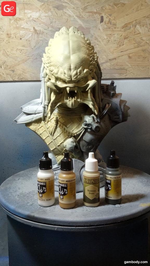 Prepare 3D print of Predator for painting