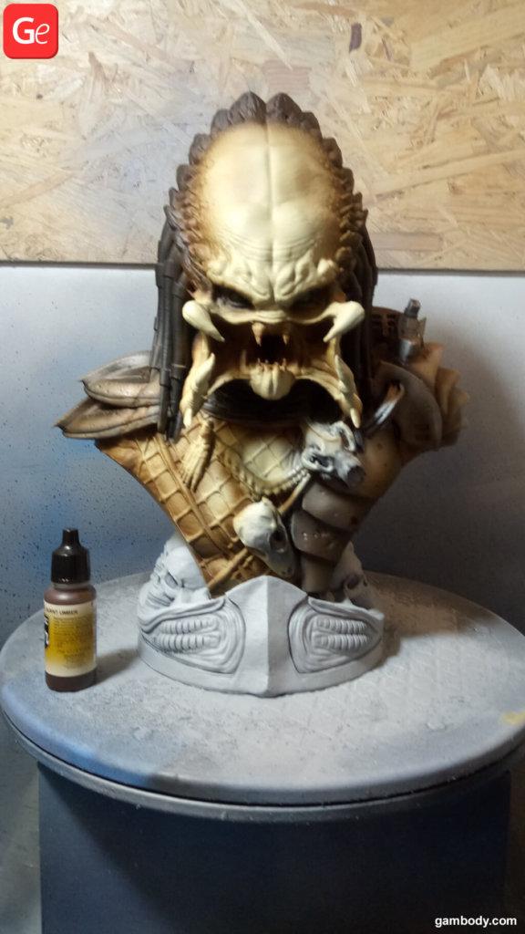 Paint tutorial for Predator bust 3D print