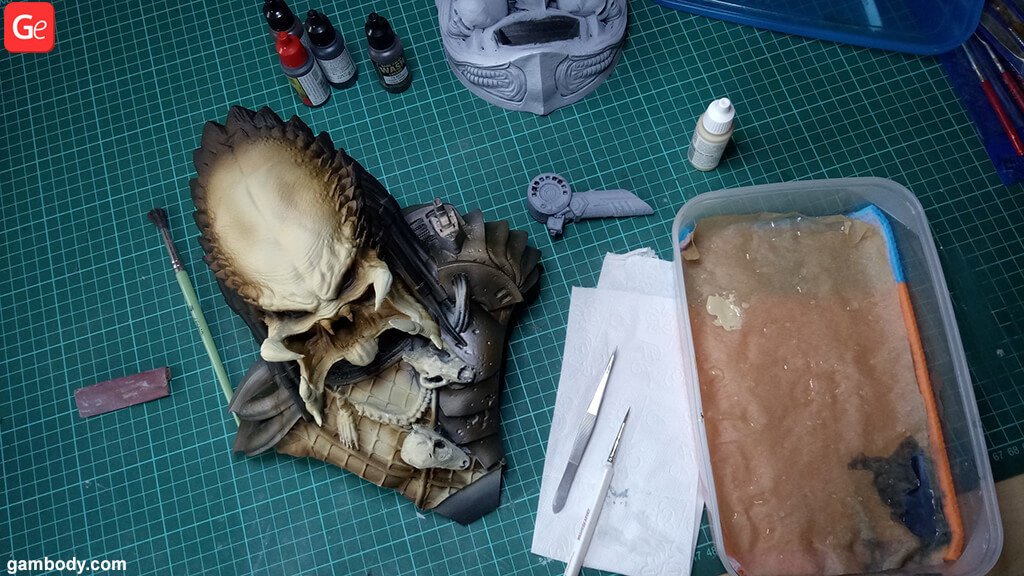 Predator guide for painting 3D prints