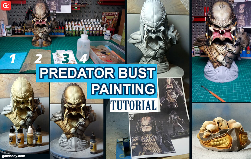 3D print painting tutorial for Predator Bust