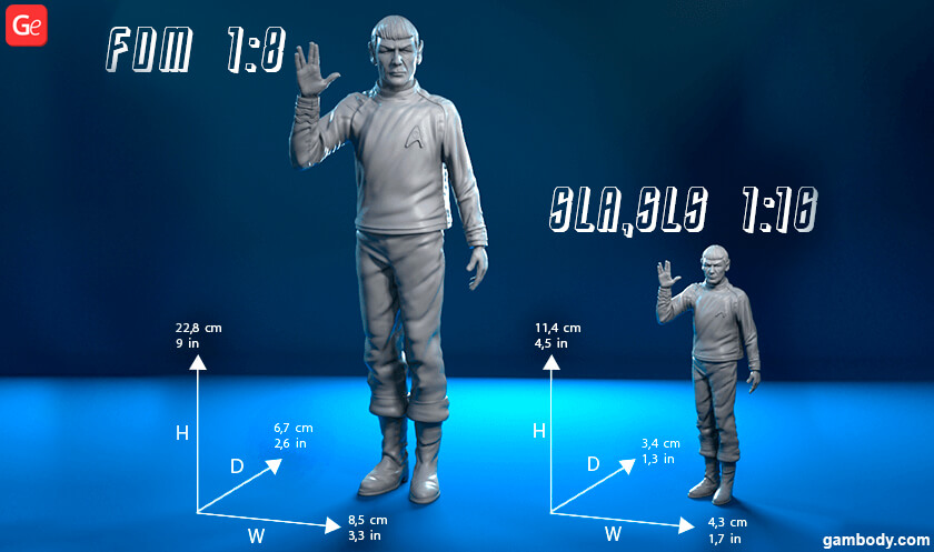Spock 3D printing model from Star Trek