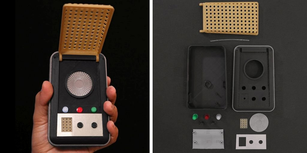 Star Trek communicator 3D print
