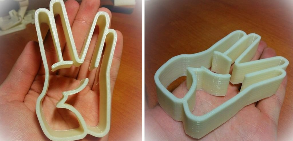 Star Trek Vulcan salute cookie cutters 3D print