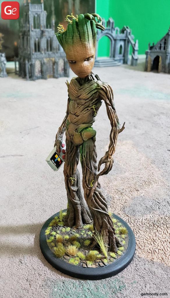 Teenage Groot 3D model printed