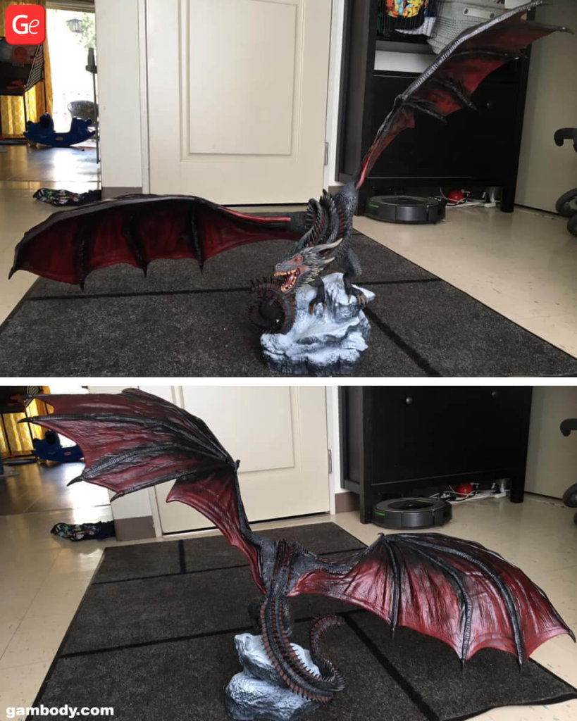 Drogon Game of Thrones figure 3D printed
