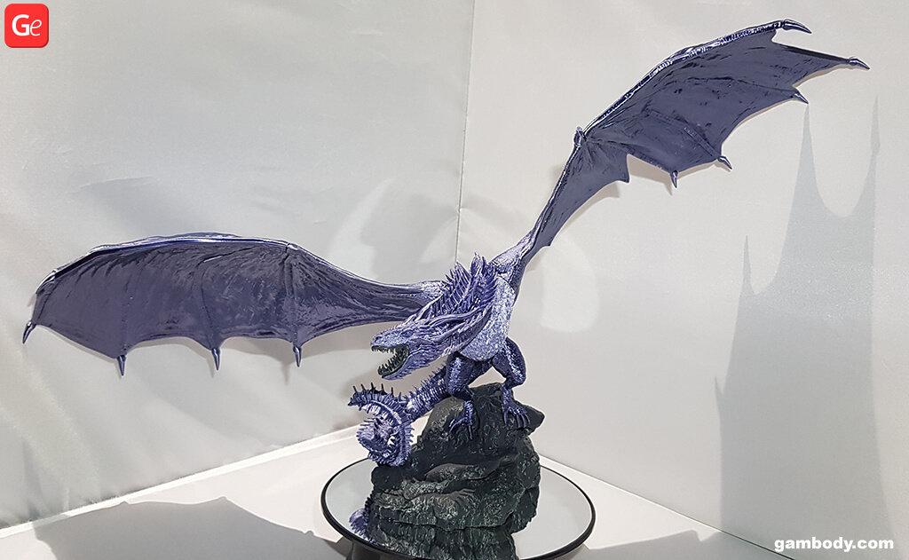 Viserion ice dragon 3D printing figurine