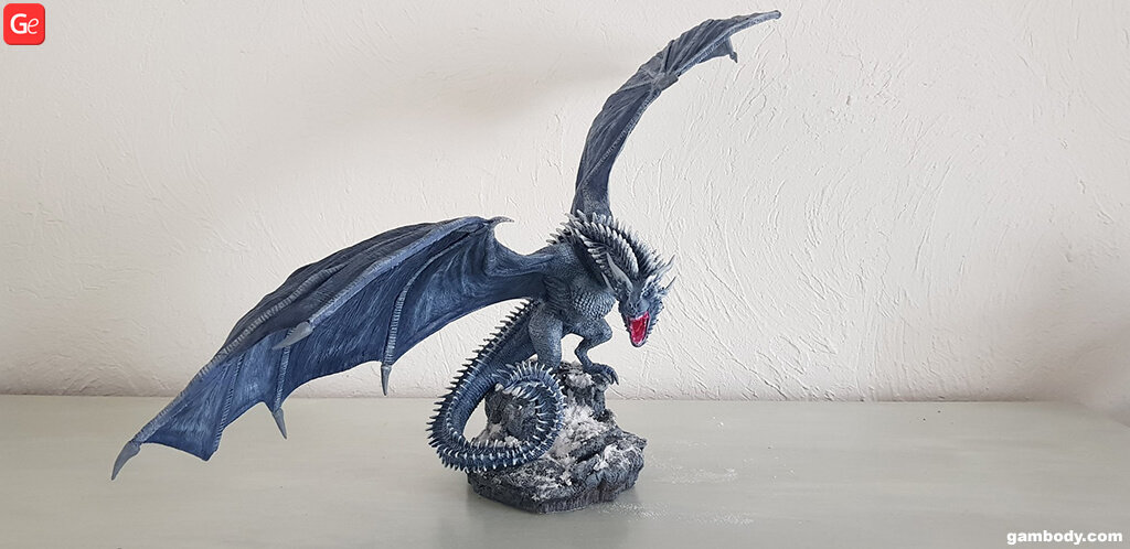 3D printed dragon Viserion Game of Thrones