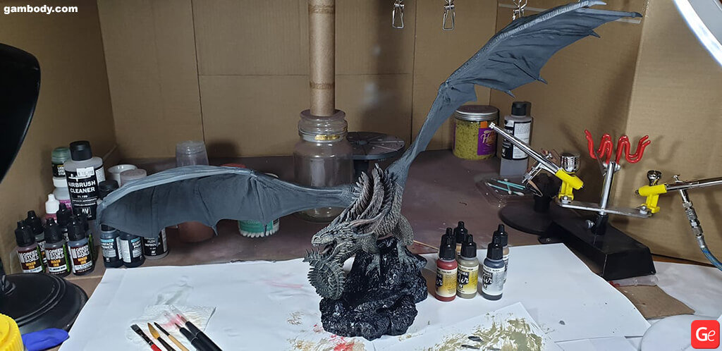 Dragon 3D model Viserion printed
