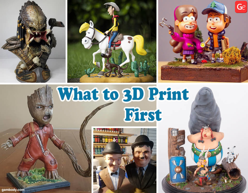 Easy things to print with a 3D printer