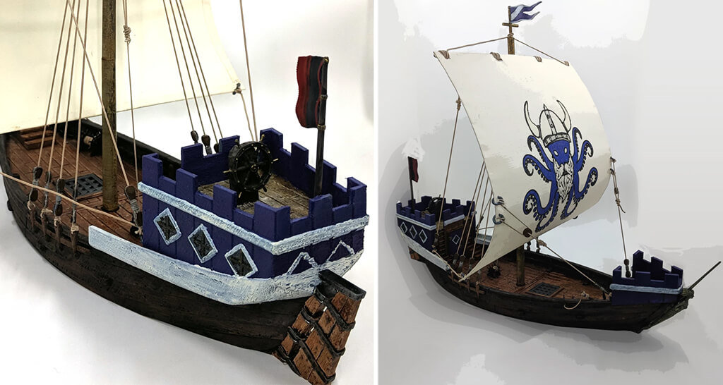 Medieval ship 3D printed Cog
