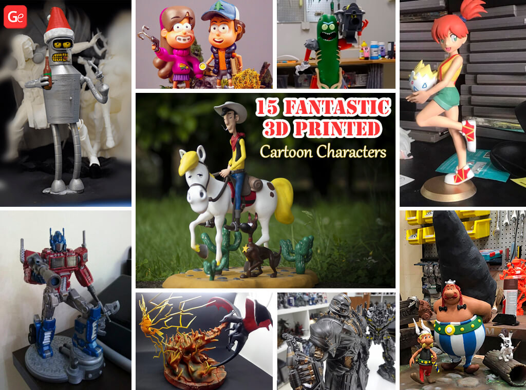 3D Printed cartoon character models