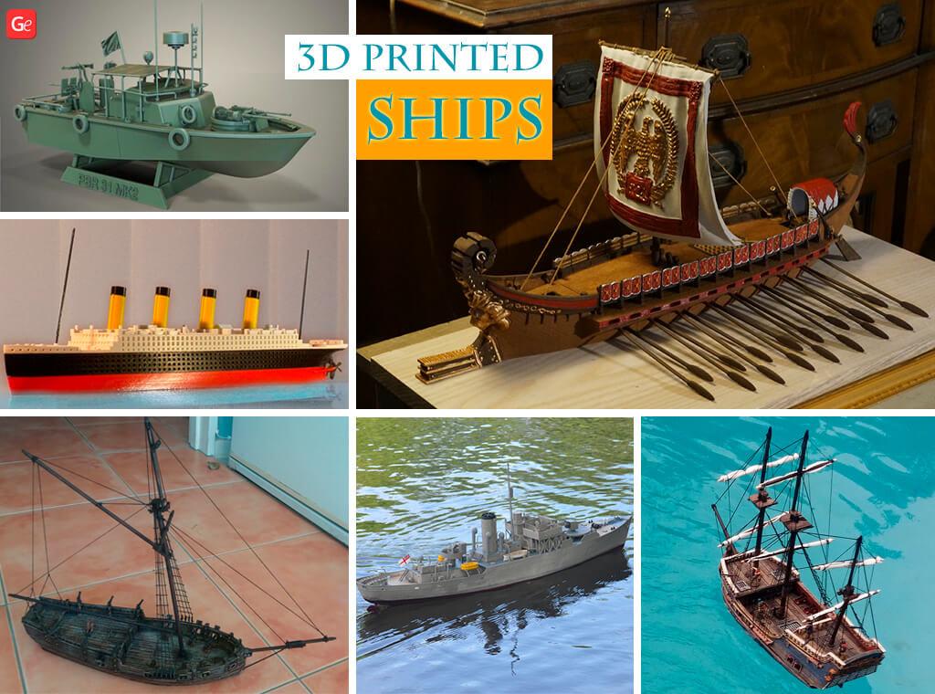 3D printed ships