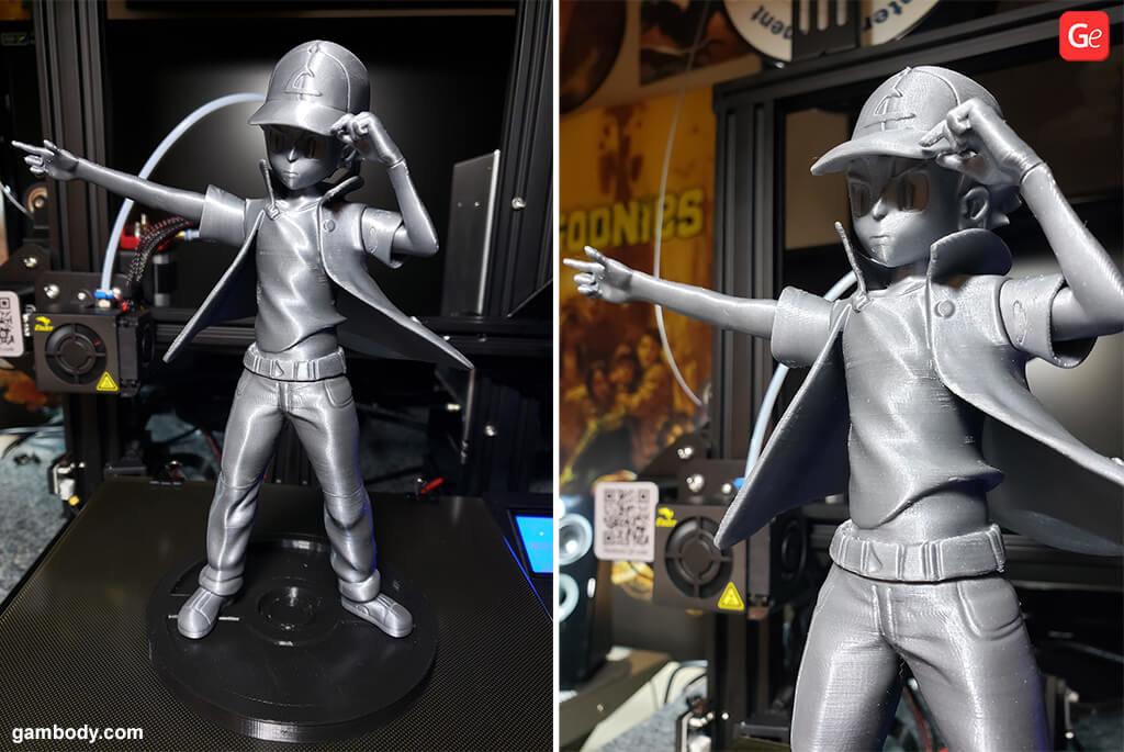 Cartoon character Ash Ketchum 3D print