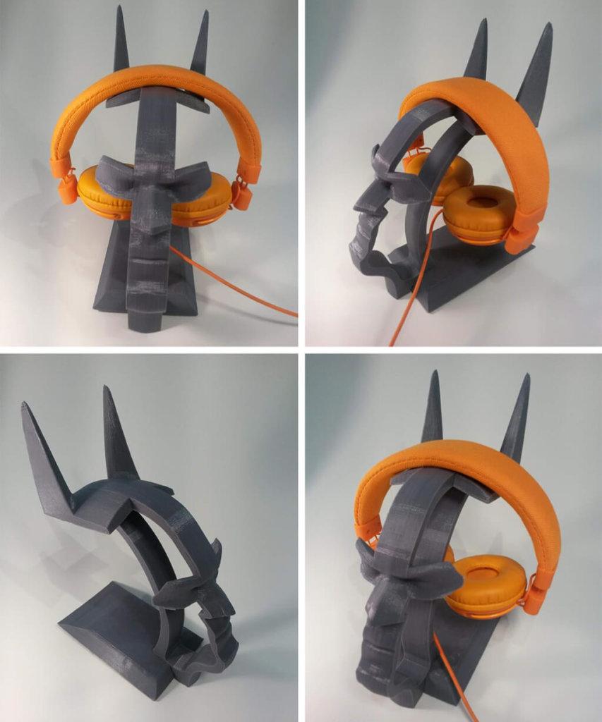 Batman headphone stand STL