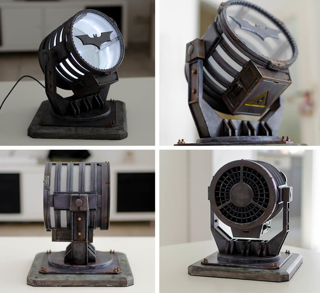 DIY Bat Signal lamp