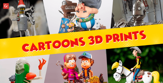 15 Fantastic 3D Printed Cartoon Character Models to Collect