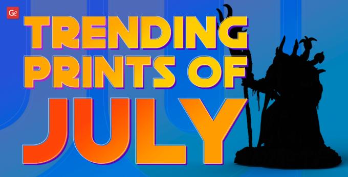 50+ Trending 3D Prints of July: Aliens, Dragons, MechWarriors, Monsters