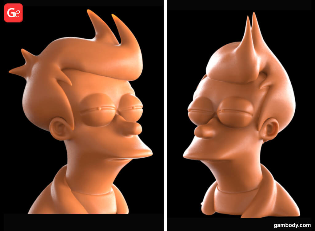 Futurama Fry 3D Model