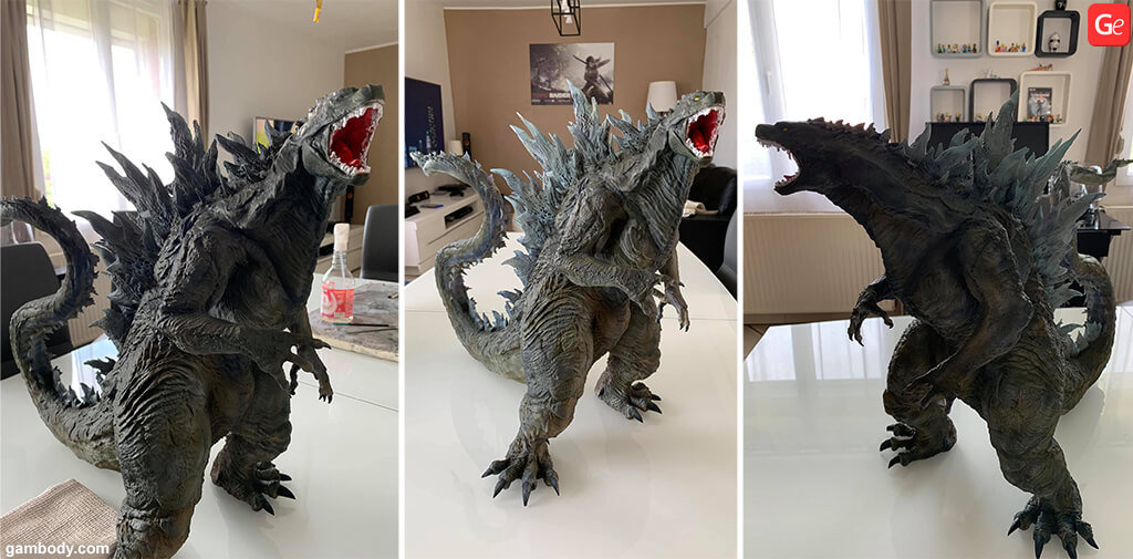 Hybrid Godzilla statue