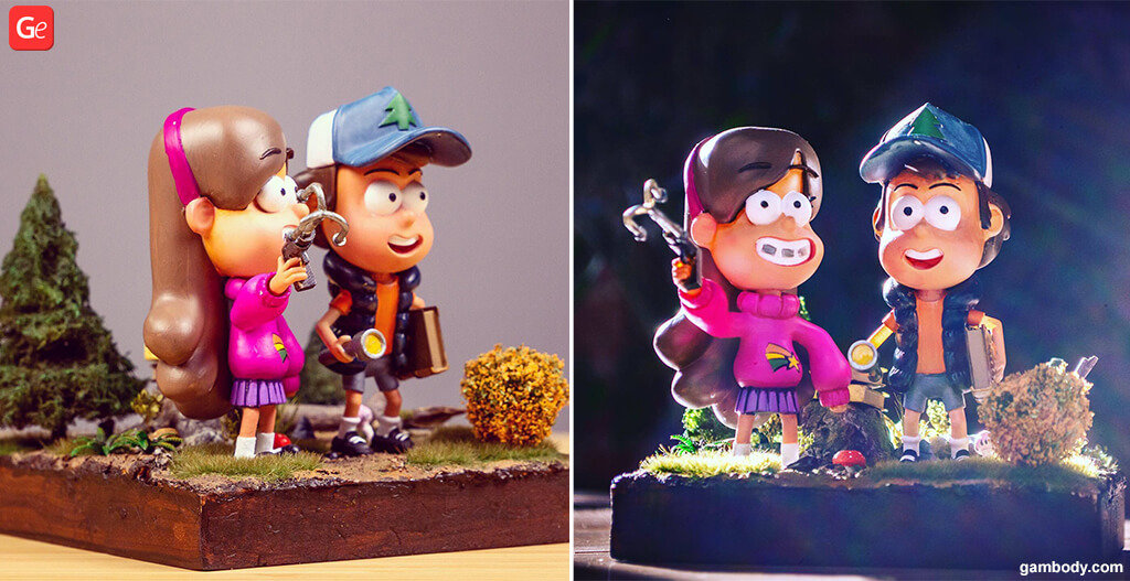 Gravity Falls figurines