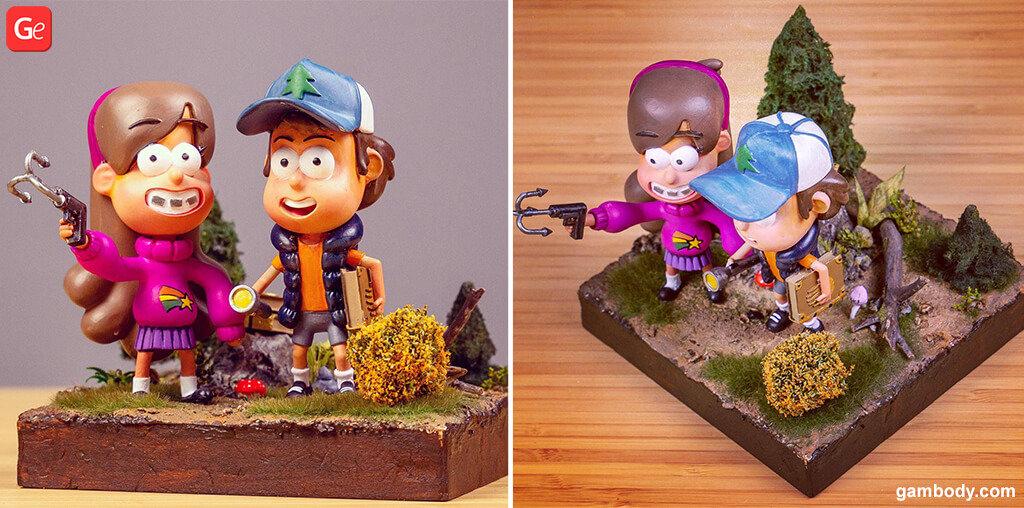 Gravity Falls 3D printed cartoon characters