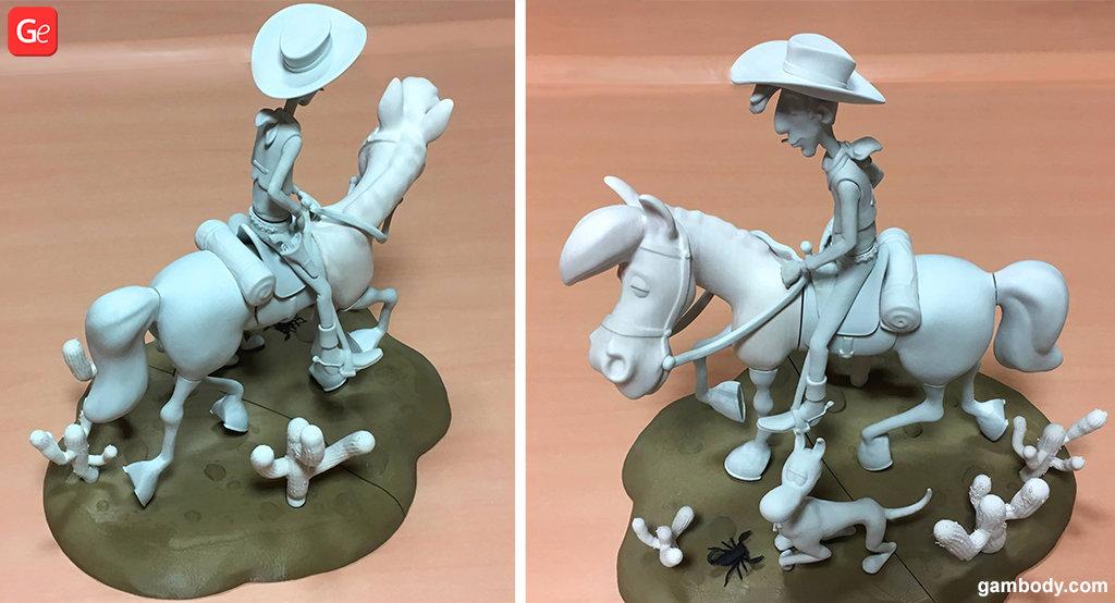 Lucky Luke cartoon character