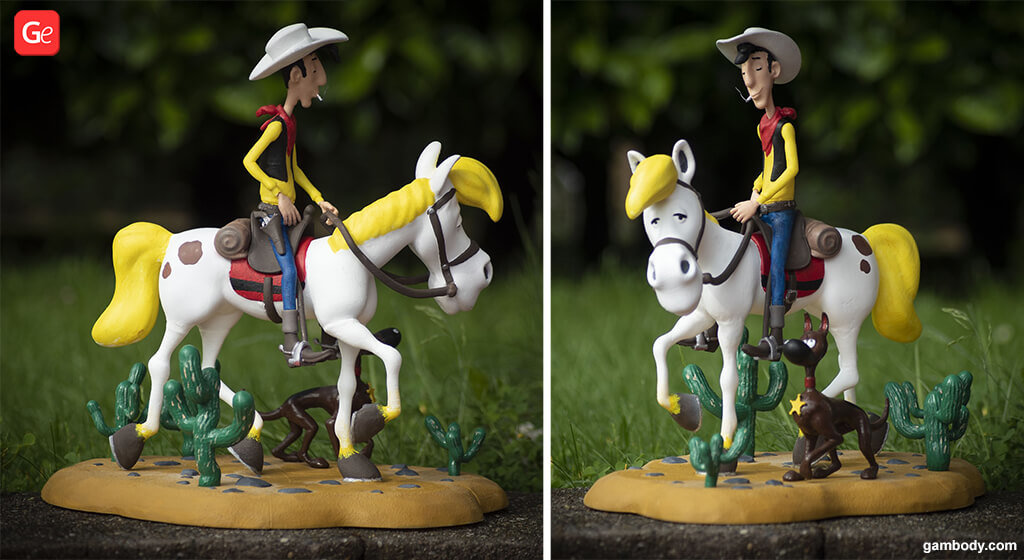 Lucky Luke 3D printed figurine