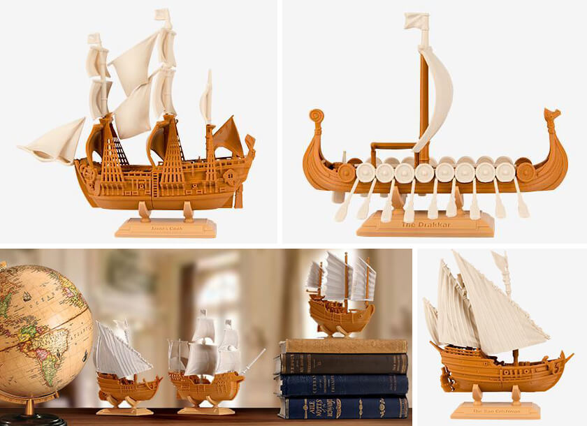 Medieval ship 3D printed