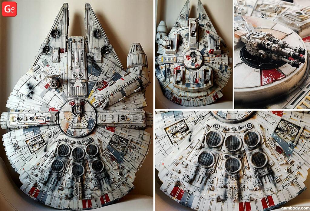 Millennium Falcon 3D print model