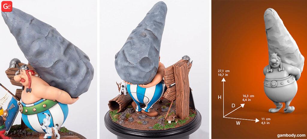 Obelix cartoon 3D printing model