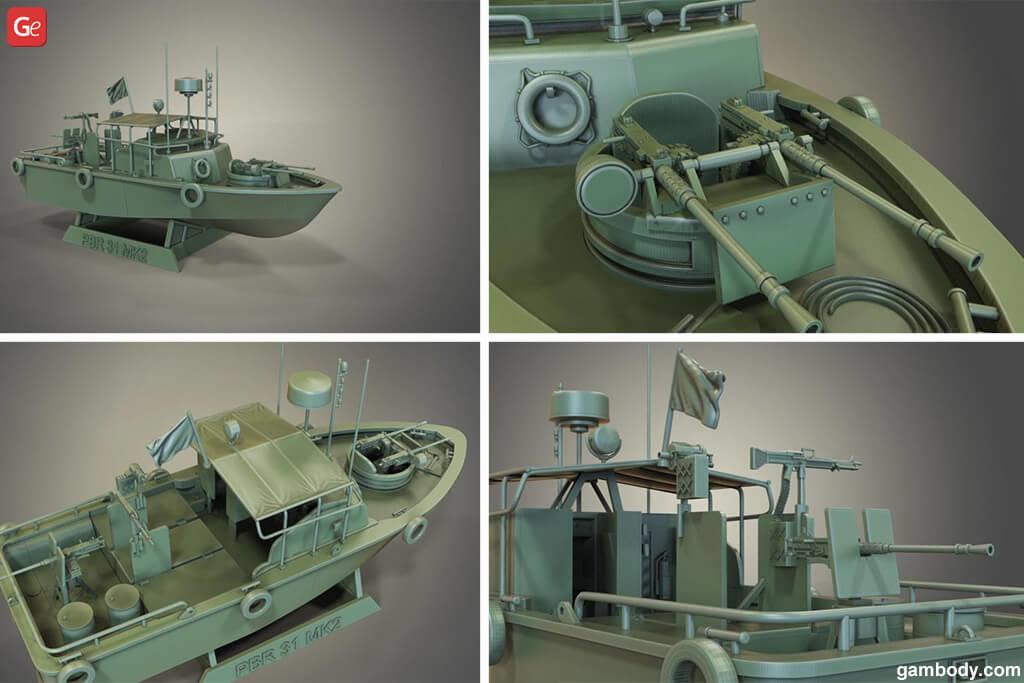 Patrol Boat River MK2 ship 3D print file