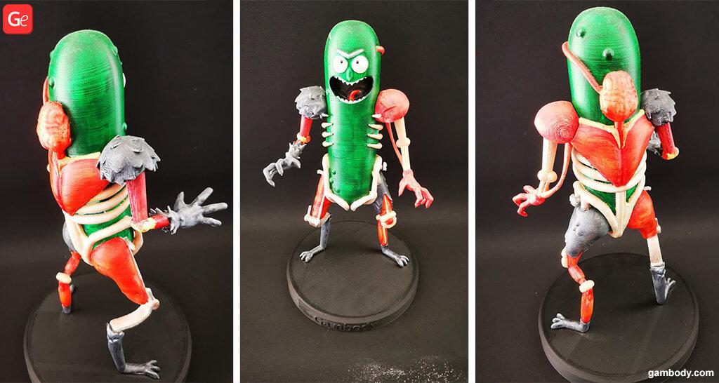 Pickle Rick 3D model printed
