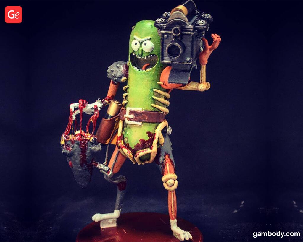 Rick and Morty cartoon figurine