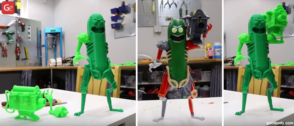 3D printed Pickle Rick