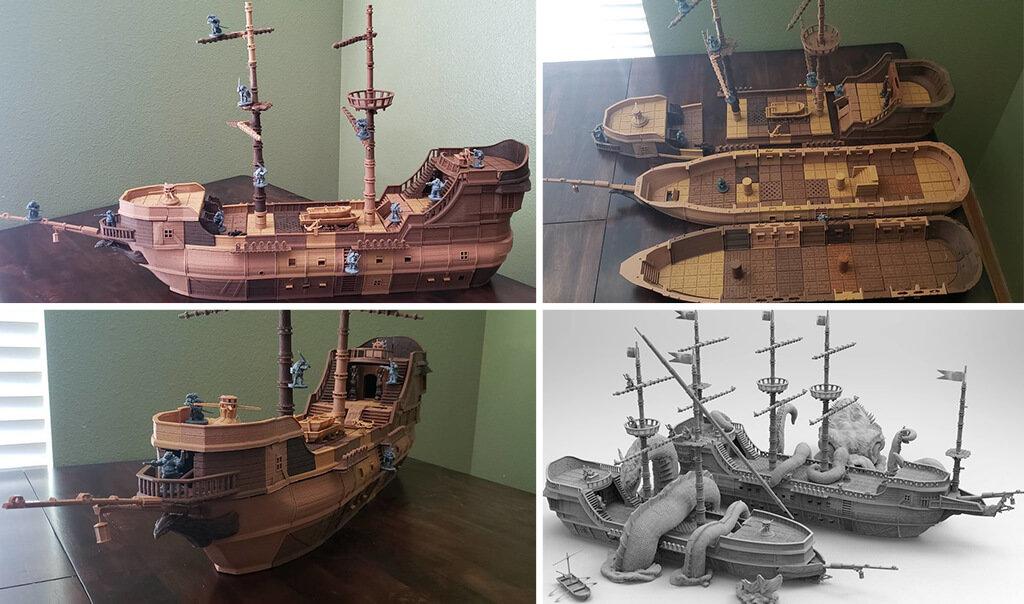 Pirate ship 3D model STL