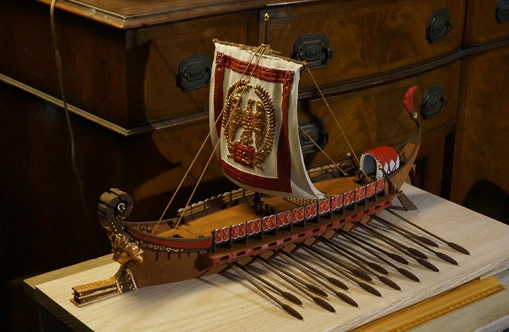 Roman Bireme 3D printed ship