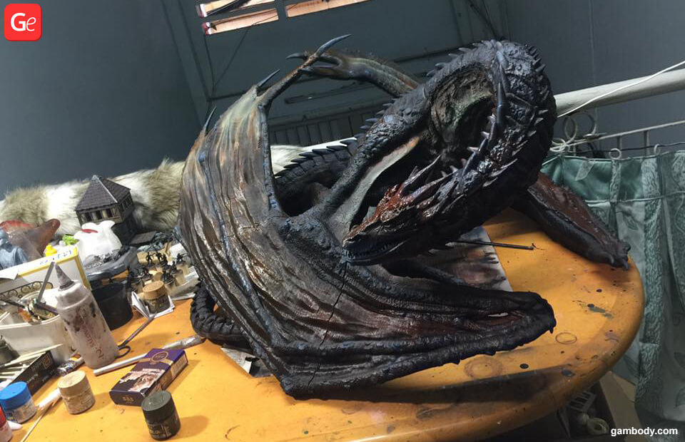 Smaug Hobbit dragon 3D model printed