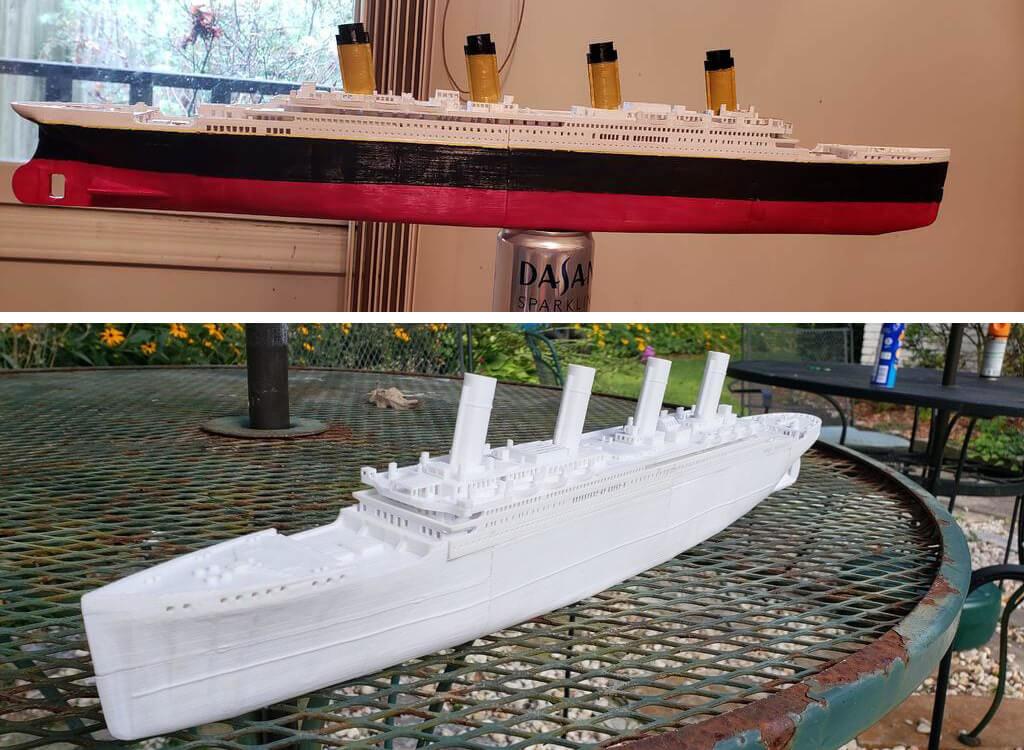 Titanic ship 3D print